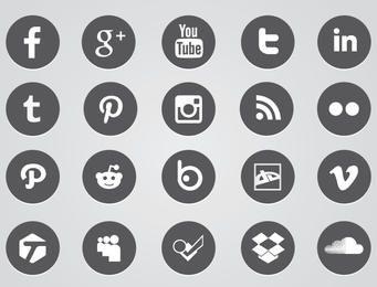 Ícones da web circular