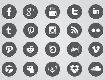 Kreisförmige Web-Icons