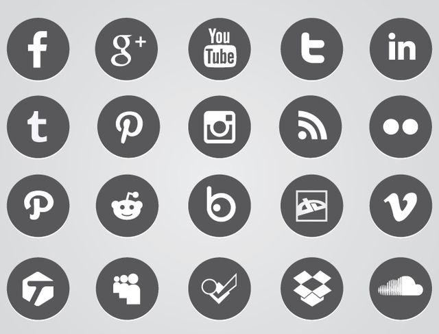 Ícones Circulares da Web