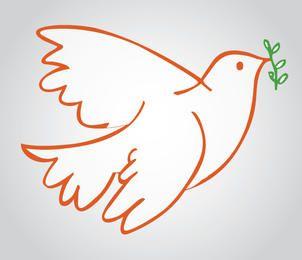 Símbolo de paz de la paloma