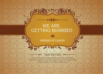 Invitación de matrimonio floral