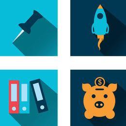 4 Geschäfts-Icons