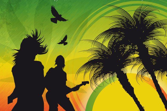 Fundo de música de reggae