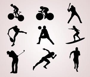 Sport Spieler Silhouetten