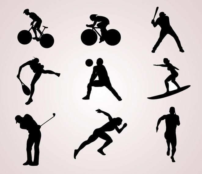 Sports Player Silhouettes