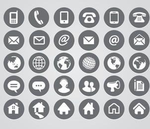 Iconos de contacto redondeado