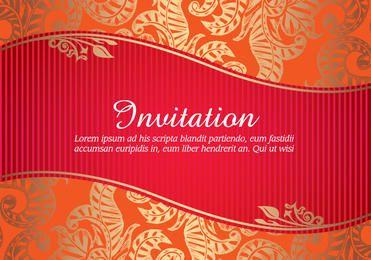 Tarjeta de invitación floral