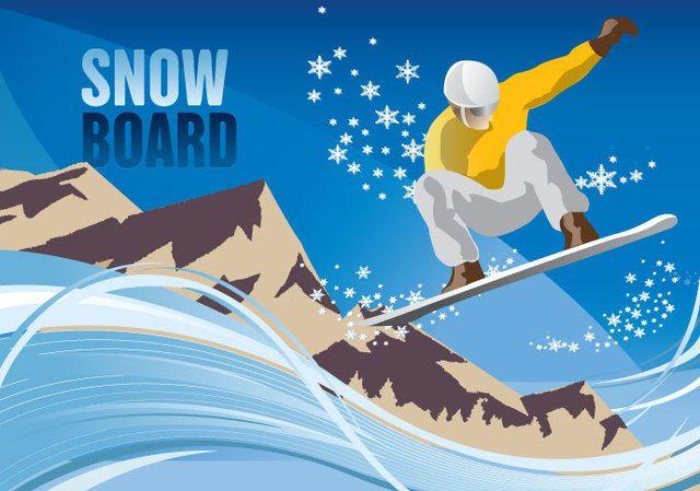 Montaña de snowboard