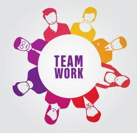 Trabajo en equipo gente círculo