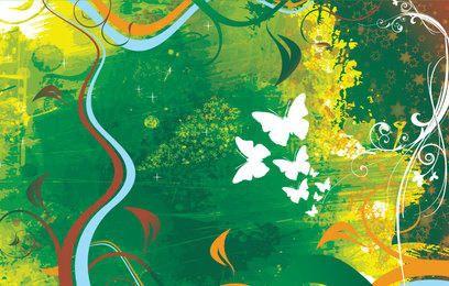 Pintar mariposas de fondo