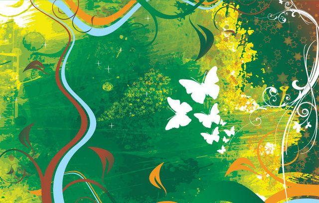 Paint Background Butterflies