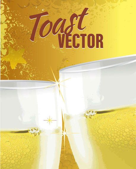Toast Drink Background