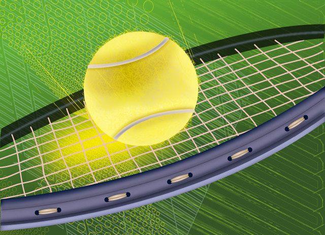 Fondo de raqueta de tenis