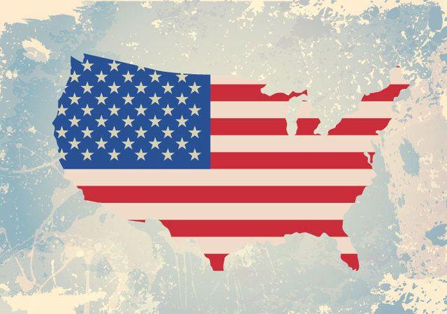 Bandera de Estados Unidos rasgada