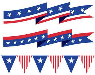 USA Ribbons Buntings