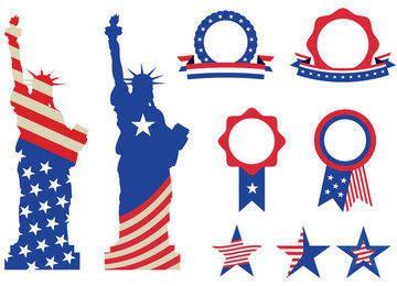 USA-Denkmal-Abzeichen