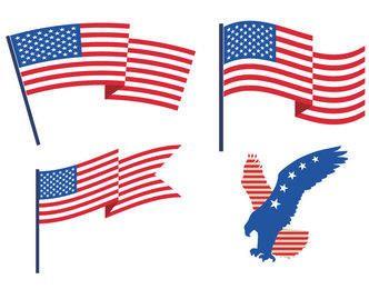 Águia das bandeiras dos EUA