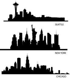 Skyline EUA Silhuetas