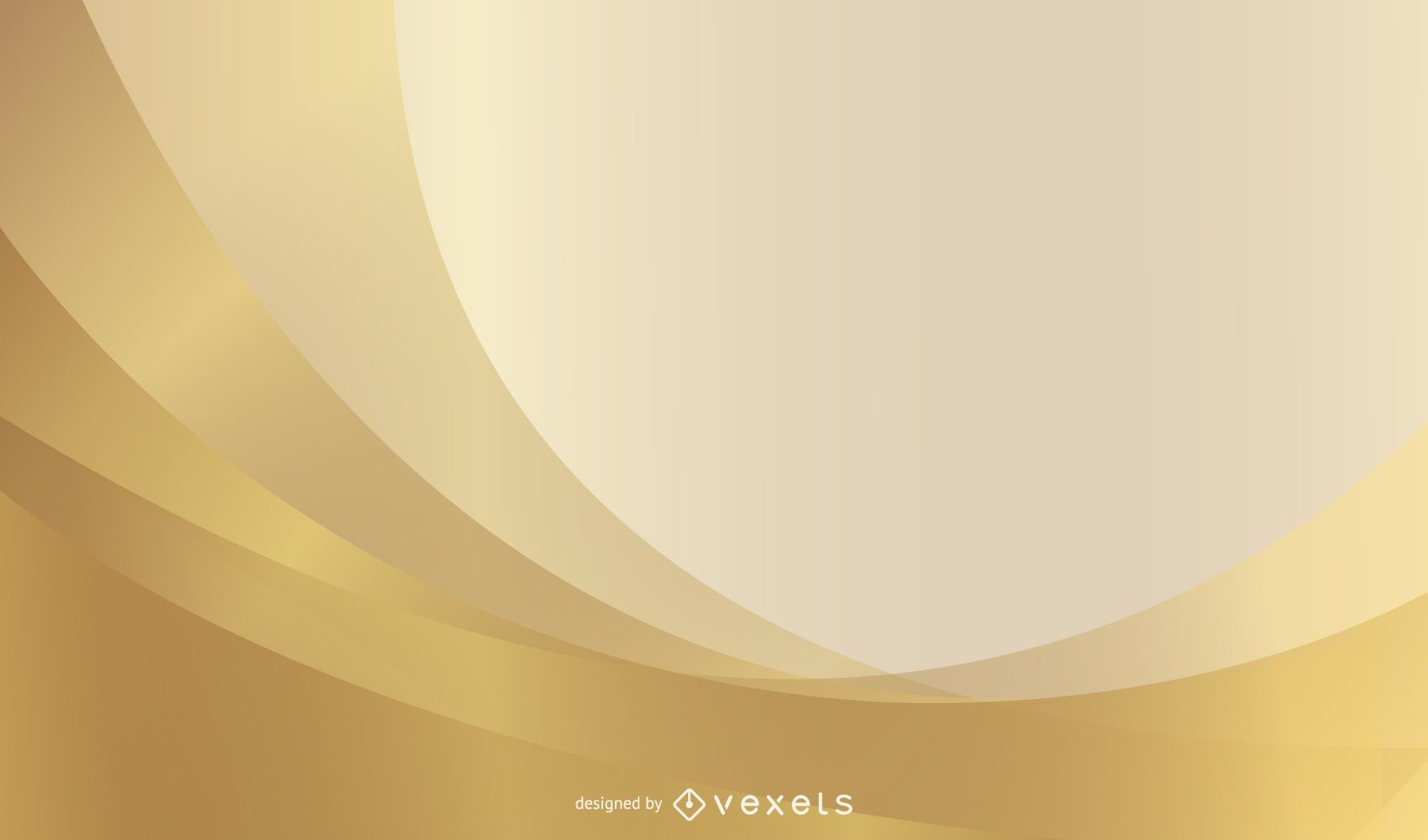 Golden Waves Background PSD