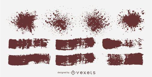 Splatters espirrados sujos