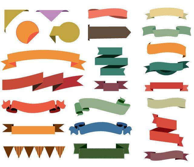 24 Colorful Ribbons