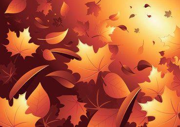 Fondo de hojas de otoño 3D