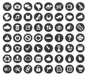 Iconos de negocios mínimos