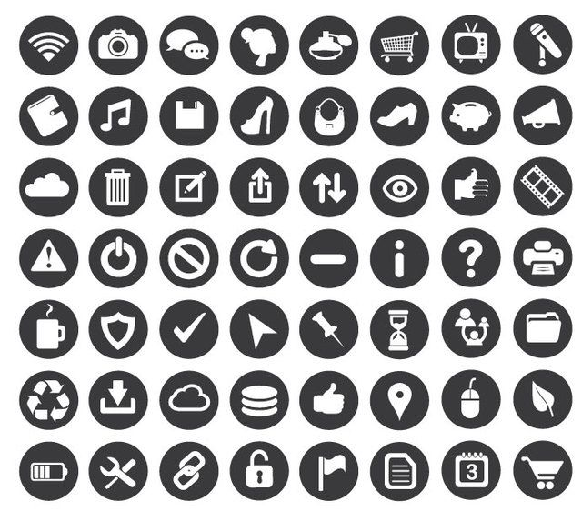 minimal business icons vector download