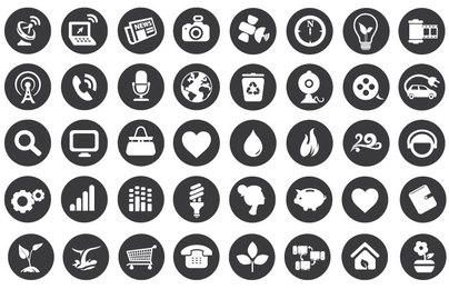 Eco Technology Flat Icons