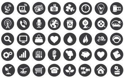 Öko-Technologie flache Icons