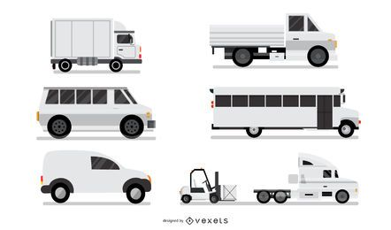 Vehículos industriales blancos