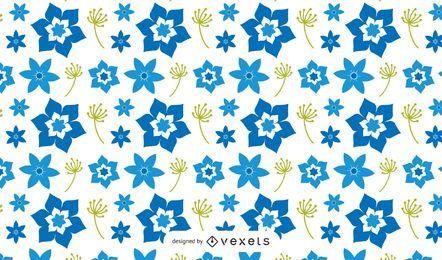 Blue Floral Pattern Design