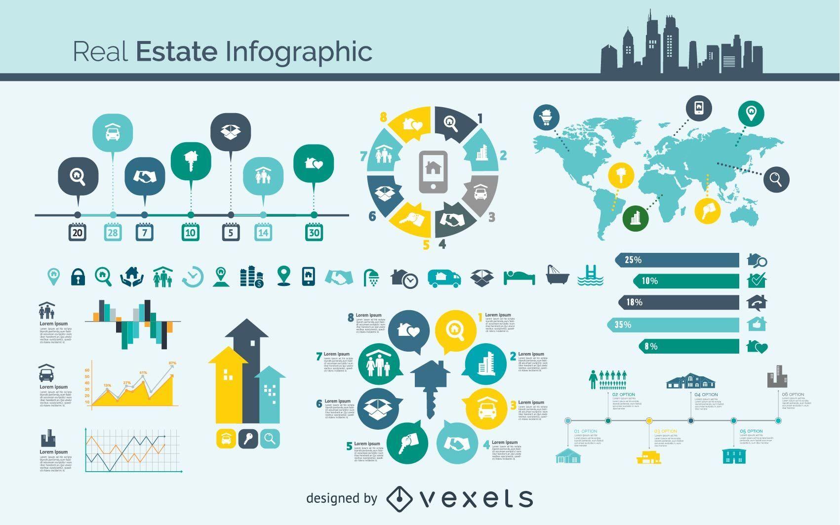 Vector de infograf?a inmobiliaria