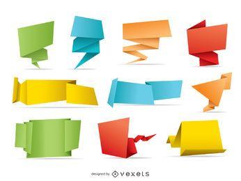 10 banderas de origami