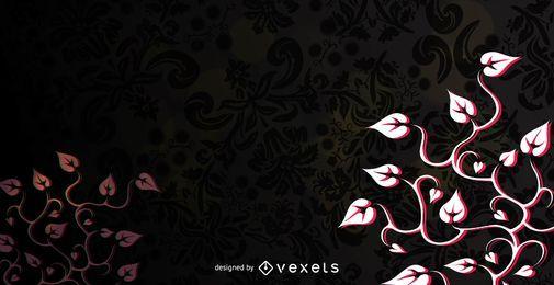Rotes schwarzes Flouring wirbelt Hintergrund