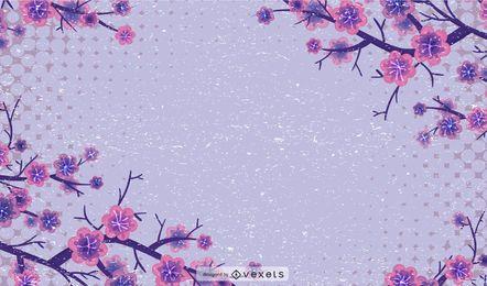 Fondo de semitonos florales sucio
