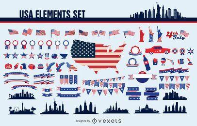 Conjunto de elementos dos EUA