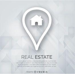 Logotipo de marcador de bienes raíces