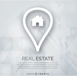 Real estate marker logo