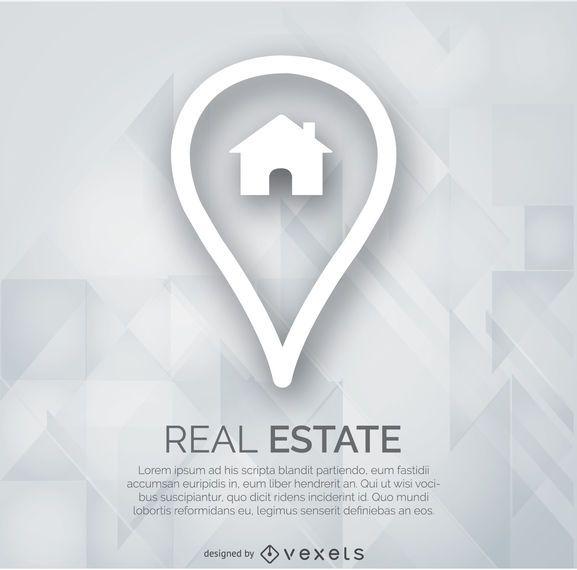 Real estate marker logo