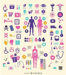 Conjunto de elementos médicos