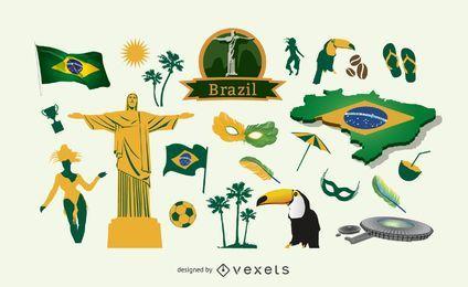 Pacote de elementos do Brasil