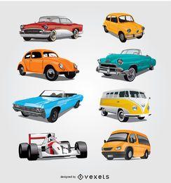 Coleção detalhada do carro