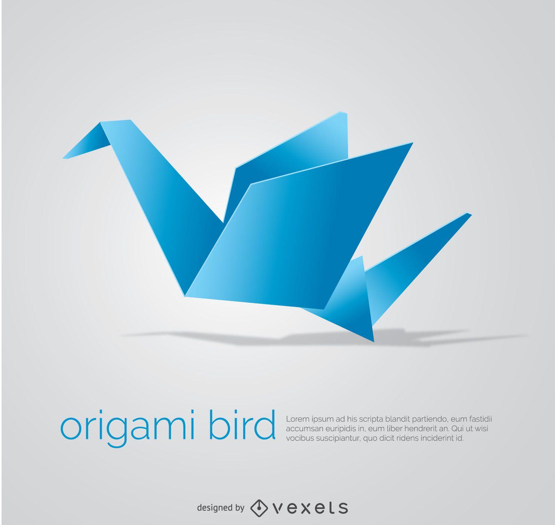 Origami Bird Vector Download