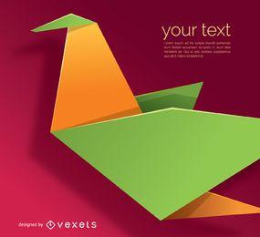 Papiervogel im Origami-Stil