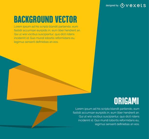 Banner o cubierta de origami