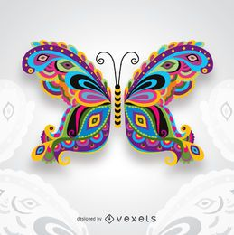 Borboleta colorida artística criativa para convites cartões de felicitações do casamento e muito mais