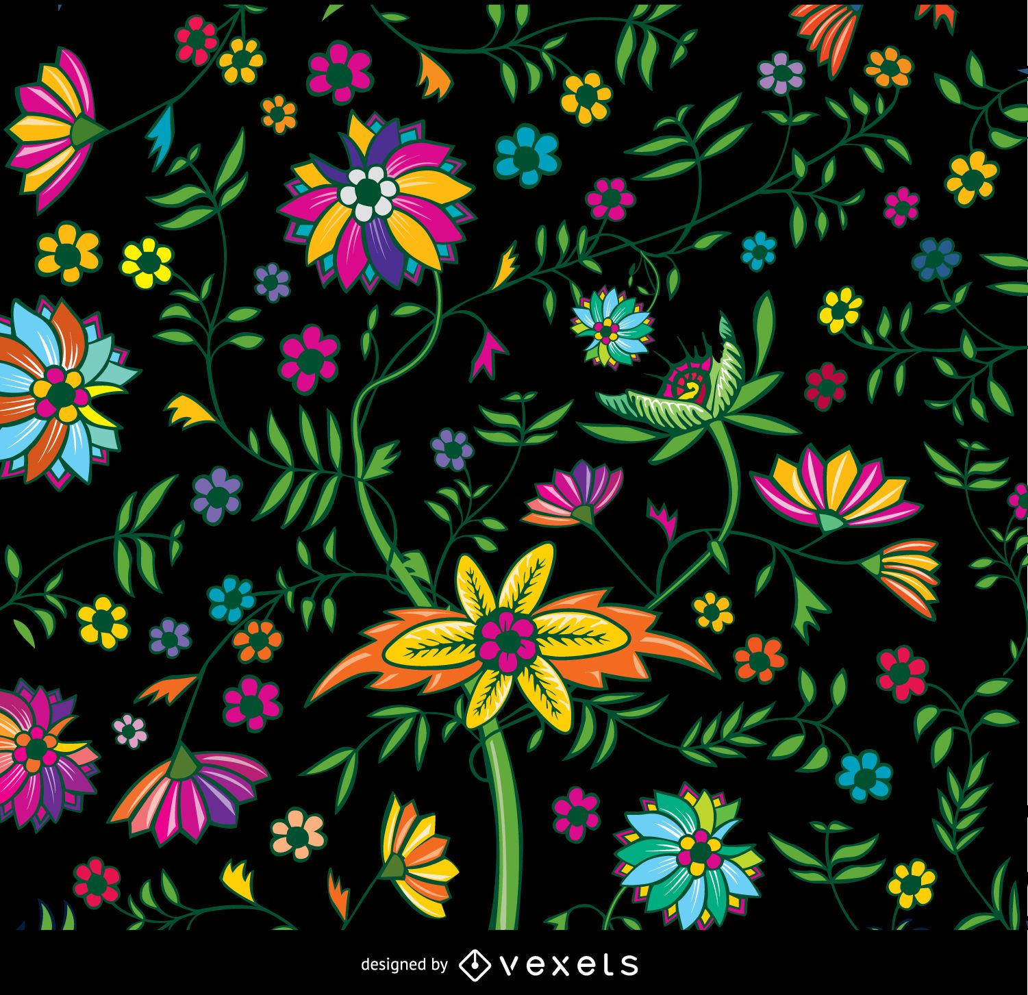 Floral Colorful Wallpaper