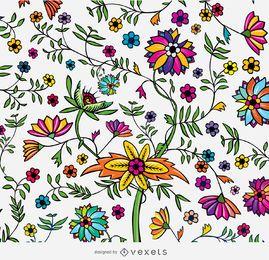 Textura floral exótica