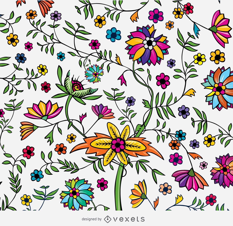 Textura floral ex?tica